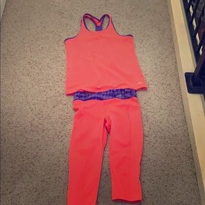Bright workout outfit